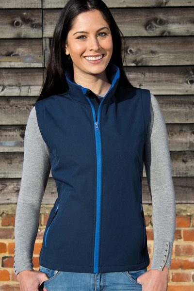 LADIES PRINTABLE CORE SOFTSHELL VEST