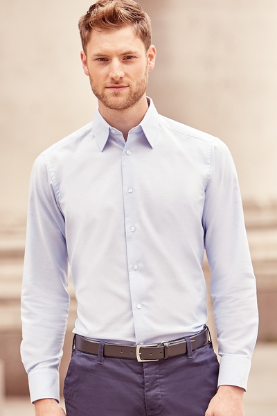 Mens' Long Sleeve Easy Care Tailored Oxford Shirt