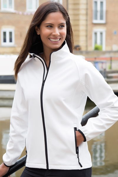 LADIES PRINTABLE CORE SOFTSHELL JACKET