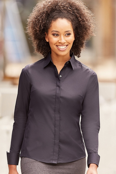 LADIES LONG SLEEVE ULTIMATE STRETCH SHIRT