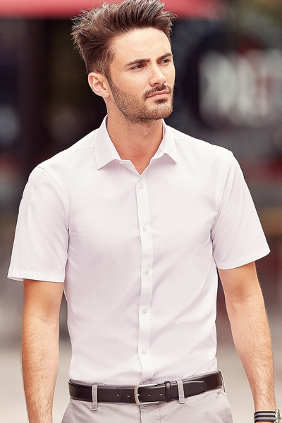 MENS SHORT SLEEVE ULTIMATE STRETCH SHIRT